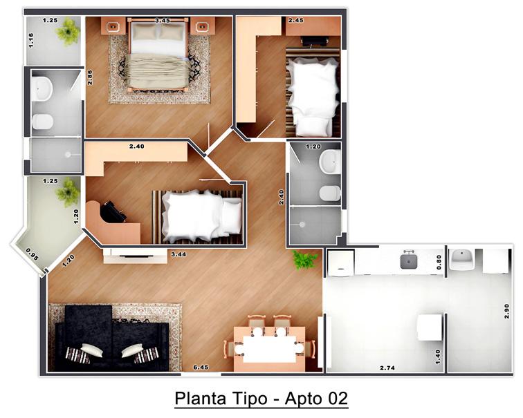 Planta - Tipo 2